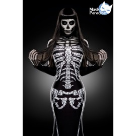 Skelett-Kostüm: Skeleton Lady